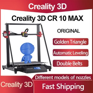 Original Creality CR 10 Max 3D Printer Large Size Auto Leveling Golden Triangle Double Belts Touch LCD Resume Printing Printers