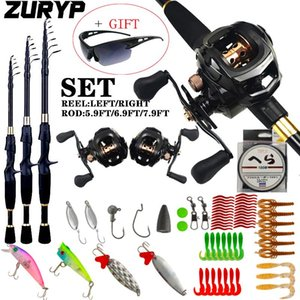 1.8-2.4m Casting Fishing Combo Portable Ultralight Rod And 8.1:1 Gear Ratio Reel