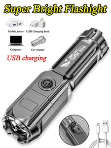 Flashlights Torches Portable Outdoor 3 Modes Rechargeable Torch Ultra Bright XPE Heat Dissipation Plastic Housing Tactical