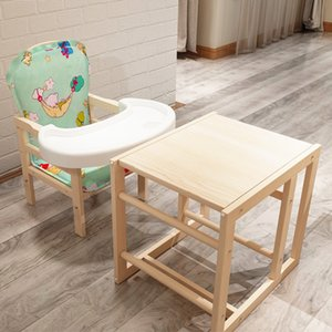 Baby dining chair dining chair desk two in one natural solid wood multifunctional feeding tool