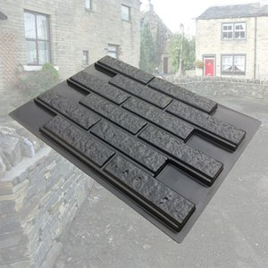 Plastic Molds for Concrete Plaster Wall Stone Slate Tiles for Garden Decoration 49x68.5x2.5cm