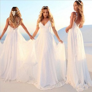 Sexy Women Summer Lace Formal Bridesmaid Maxi Gown Prom Party Beach Sleeveless Backless Dresses Sundress1