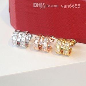 [With box] Designer Earrings Pendant stud Love Necklaces Screw Earring carti Party Wedding Couple Gift Bracelet Fashion Luxury afssdfsdfgsdfsdasdasd