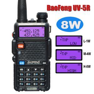 BAOFENG UV-5R UV5R WALDIE TAMPIE 듀얼 밴드 136-174MHz 400-520MHZ 1800mAH 배터리가없는 이어폰 (BF-UV5R)이있는 양방향 무선 트랜시버