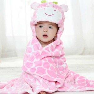 Newborn Swaddle Super Soft Comfortable Kid Toddler Hooded Baby Blanket Cloak Quilt Fleece Wrap