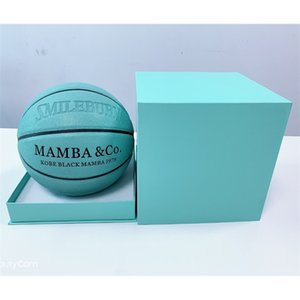 New Tiffany blue and green adult basketball standard game 5, 6, No. 7 durable Pu hygroscopic ball