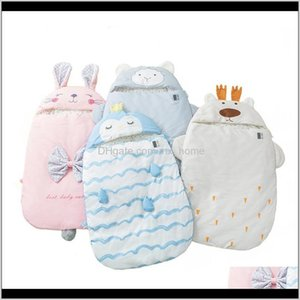 Baby Sleeping Bags Born Winter Warm Swaddling Wrap Toddler Blanket Cute Animal Characters Design Patterns Sleepsack 201128 Yrgp3 8M72U