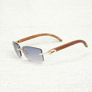 Старинные горный хрусталь черный белый буйвол рожок без огранки солнцезащитные очки мужчины деревянные солнцезащитные очки металлические оттенки рамы для очки наружного клуба
