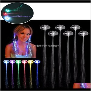 Flashing Aessories & Tools Products Drop Delivery 2021 2Pcs Lot Colorful Wigs Glowing Flash Led Hair Braid Clip Hairpin Decoration Ligth Up S