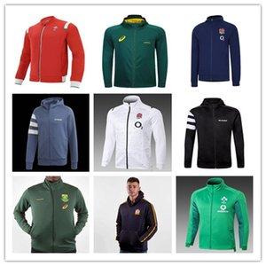 Toute veste de rugby Noir Ecosse Galles Irèlland Sud 2021 Afrique Hommes Sweat Jersey Sweats à capuche à capuche