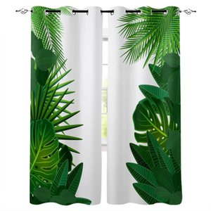 Curtain & Drapes Tropical Jungle Leaves Plant Bedroom Kitchen Modern Home Decoration Children Window Curtains For Living Room Decorative