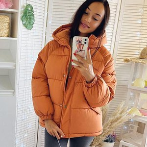 2020 new Women Parkas jacket Fashion solid thick warm winter hooded jacket coat winter parkas solid outwear1