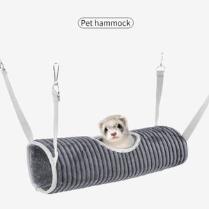 Winter Warm Hamster Tunnel Hammock for Small Animals Sugar Glider Tube Swing Bed Nest Bed Rat Ferret Toy Cage Accessories