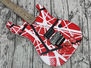 5150 Aged Relic Electric Guitar, Ash Body,Edward Eddie Van Halen Banana Shape Maple Neck