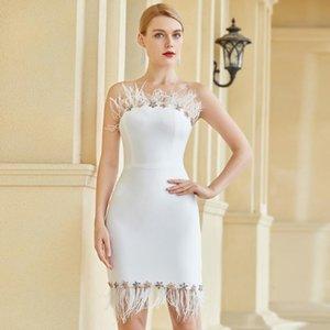 New vestido sexy dresses for woman White Sheath Strapless Sleeveless Evening birthday elegant dress women for wedding party 2020