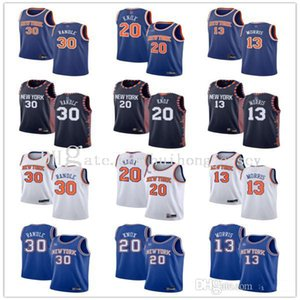 Herren Womens Youthnew YorkKnicks30 Julius Randle 20 Kevin Knox 13 Marcus Morris Blue White Navy Custom Basketball Trikots