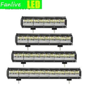 10pcs 4~20Inch Waterproof LED Light Bar Offroad LED Bar for Car Truck Tractor ATV 4x4 Spot Flood Barra LED Work Light 12V 24V