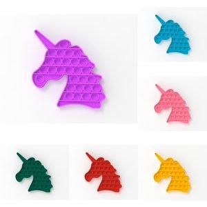 Massive Einhorn-Form Push Pop Popper Zappeln Blase Popper Spielzeug Sensorische Silikonblasen Puzzle-Angst Stress Reliever Spielzeug Finger-Spaß-Spiel ADHD braucht H41S29T