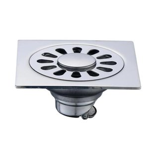 10*10 cm Square Stainless Steel Shallow Water Seal Floor Drain, Prevent Odor Washing Machine Drainage Sewer Floor Drain