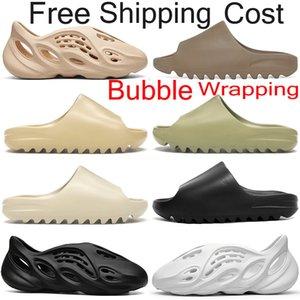 Free shipping kanye slides sandals shoes slippers terlik erkek slayt ayakkabı kadın sandalet spor ayakkabı çocuk köpük koşucu Çöl Kum Reçine açık terlik slayt sandal eğitmenler