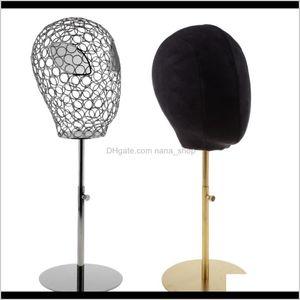 Heads 2Pcs Black Suede Cork Mannequin Head Hat Rack Cap Wig Holder Display Stand Model Qxoki Zqolu
