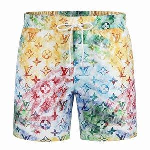 Casual Stil Katı Renk Kurulu Erkekler Yaz 2021 Şort Pantolon Moda Tasarımcısı Erkek Plaj Yüzme Erkek Spor Kısa
