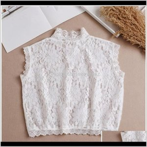 Blouses Shirts Womens Clothing Apparel Drop Delivery 2021 Women Hollow Floral Lace False Fake Collar Turtleneck Detachable Dickey Half Shirt