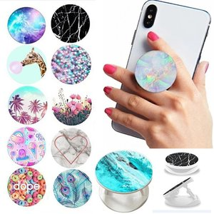 In stock Universal grip cell phone holder stand bracket with opp bag pattern finger ring car mounts for smartphone table
