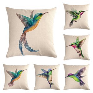 Birds Outdoor Throw Pillow Covers Hummingbirds Pattern Decorative Cushion Cases Home Decor for Furniture Couch Bed Sofa