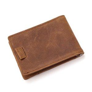 달러 머니 클립 정품 가죽 지갑 개폐식 오픈 클램프 얇은 지갑 트렌드 망 가방 빈티지 보석 액세서리 선물