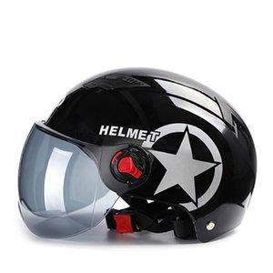 Motorcycle Helmets Helmet Single Clear Tinted Lens Men Women Summer Half For Motorbike Scooter Electric Bike 2022