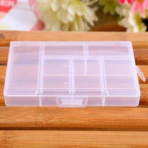 Storage Case Box Holder Container Pills Jewelry Nail Art Tips 6 Grids Support Wholesale And Drop Mats & Pads