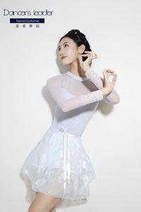Stage Wear Ballet Leotard Vs Skirt Set For Women High-end Embroidered Gymnastics Ballerina Dancewear Aerial Yoga Costume
