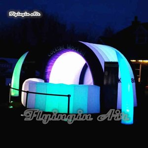 Customized Advertising Inflatable Cocktail Bar 5m Length Lighting Blow Up Tent For Night Club Party And Pub Decoration UMKV