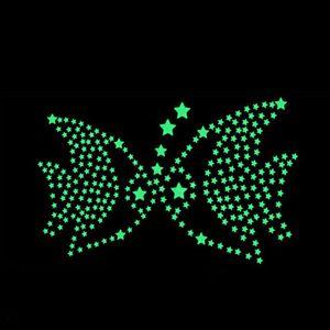 Home 3d 50pc Decor Kids Bedroom Fluorescent in the Dark Snowflake Wall Stickers Stars Luminous Glow Ornament Sticker 8ntc