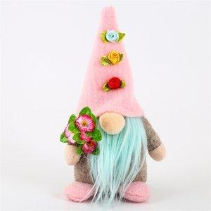 Día de la madre Muñeca sin rostro Easter Rabbit Gnome Regalos Día del padre Decoración de fiesta de vacaciones de Pascua para adornos de la mesa de Pascua G393ZR0