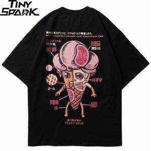 Homens hip hop t shirt engraçado sorvete anatomia harajuku japonês kanji t-shirt streetwear japão tshirt algodão verão tops 210329