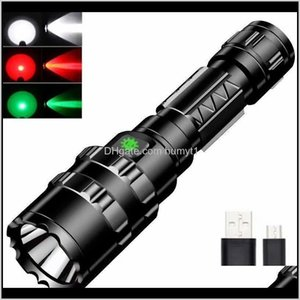 Flashlights Torches Waterproof L2 X1 Battery 1600Lumens 5 Switch Modes Rechargeable Hunting Outdoor Rescuing Torch Flash Light 11021 O Etl3S