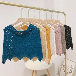 Bow Ties Sitonjwly Summer Knitted Fake Collar Shawl Short False Wrap Dress Girls Shirt Detachable Collars Accessories