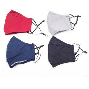 Хлопок дизайнерская маска для мужчин Женщины пылезащитный дышащий черный серый синий моющийся анти пылезащитный жалок PM2.5 Faceegask Mass Masks 3 слоя