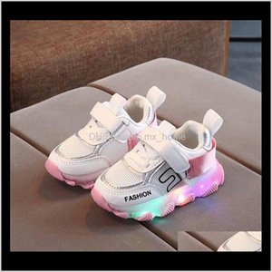 Baby, Kids & Maternity Drop Delivery 2021 Children Led Girls Boys Letter Mesh Sport Run Sneakers With Luminous Sole Baby Light Up Shoes C1229