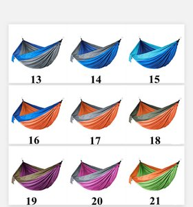 Camping Hammocks with Mosquito Net Double Lightweight Nylon Hammock Home Bedroom Lazy Swing Chair Beach Campe Backpacking SEA HHC7539