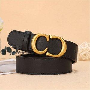 2022 Cinturones de diseñador de hombres Cinturón de negocios de cuero negro para damas Hebillas de oro clásico casual decorativo con caja blanca