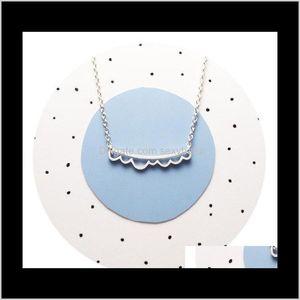 & Pendants Jewelry Drop Delivery 2021 10Pcs- N120 Ocean Wave Bar Open Cloud Scalloped Pendant Necklace Beach Necklaces Simple Geometric Chevr