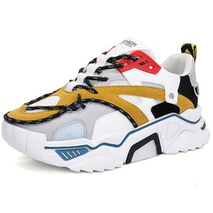 Top Fashion 2021 Men Women Casual Shoes Triple White Black Yellow Outdoor Flat Thick Bottom Breathable Sneakers Trainers Sports SIZE 39-44