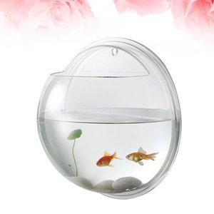 Aquariums Transparent Creative Wall Mounted Acrylic Fish Bowl Hanging Aquarium Tank Home Decor (15cm Diameter)