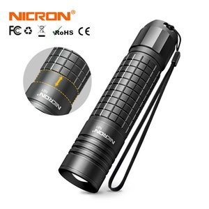NICRON Zoomable LED Flashlight 700LM High Lumens 18650   AA Battery IPX4 Waterproof 5 Modes Riding Outdoor Torch Light N81 210608