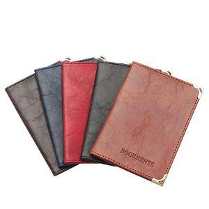 2021 Women Men Auto Driver License Bag PU Leather Passport Cover Retro Car Driving Documents Card Credit Holder