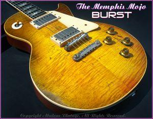 Heavy Relic Gary Moore Peter Green Mojo Burst Electric Guitar Flame Maple Top, One Piece Neck & Mahogany Body, Chrome Hardawre
