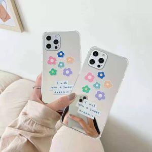 Зеркало цветные Цветы Чехлы для телефона для iPhone 12 11 Pro Promax X XS MAX 7 8 PLUS